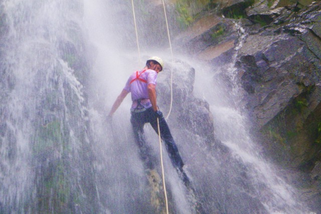 waterfall canjoning and repelling
